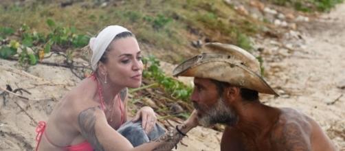 Raz Degan e Paola Barale sull'Isola dei Famosi