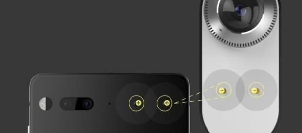 Essential phone's magnetic connectors working with 360-degree cam accessory. / from 'New Atlas' - newatlas.com