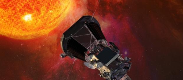 Ilustración de la NASA de la sonda Eugene Parker