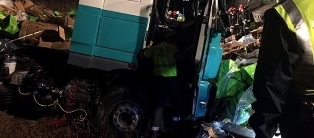 Imagens do acidente foram divulgadas pelo centro de emergência Comunidad de Madrid 112