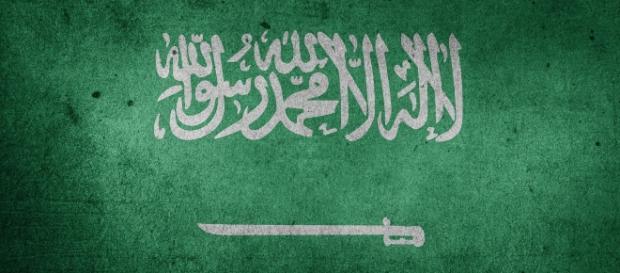 Le drapeau de l'Arabie saoudite.