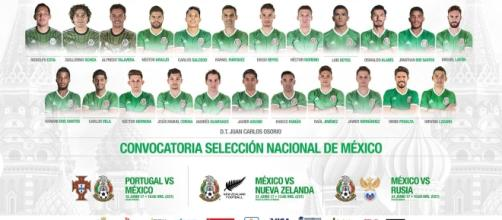 Convocatoria de México para Copa Confederaciones Rusia 2017 - com.mx