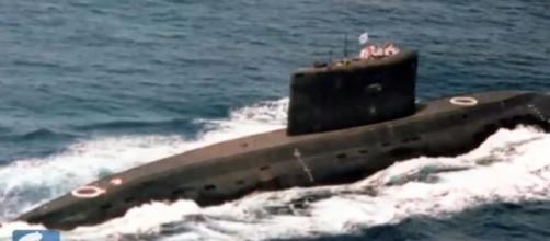 Iranian Submarines / photo screencap from STRAFORvideo via Youtube