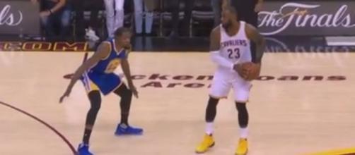 James VS Durant [Image via screenshot Youtube/NBA channel]