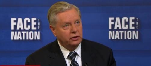 Sen. Lindsey Graham drives final nail in health care bill coffin. / Photo by Face The Nation via YouTube: https://youtu.be/xgliBr9uMEU