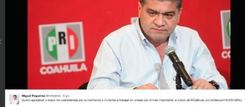 Una foto publicada en Twitter de Miguel Riquelme