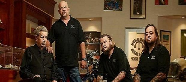 Chumlee, Richard, Rick and Corey Harrison / Photo via Pawn Stars , Facebook