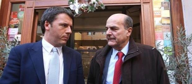 Matteo Renzi e Pier Luigi Bersani litigano per Pisapia