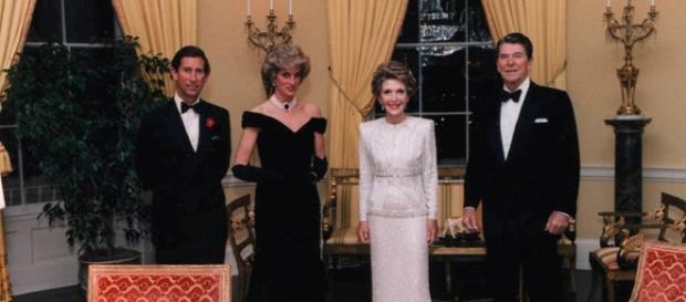Prince Charles, Princess Diana, Nancy Reagan, and Ronald Reagan / Photo CCo Public Domain via wikimedia