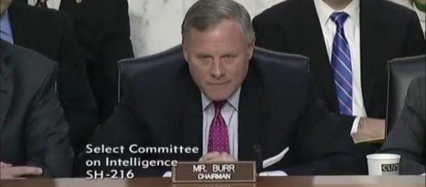 Sen. Richard Burr (R-N.C.) chariman of the Senate Intelligence Committee. / Photo by SenatorRichardBurr via YouTube: https://youtu.be/24KUW1B6ZaE