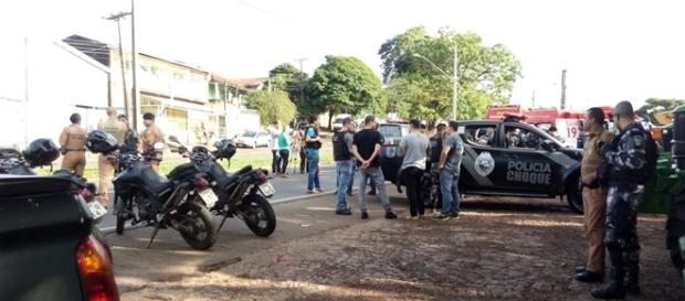 Um bandido morreu e o outro acabou sendo preso após uma intensa perseguição