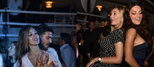 Rosa Perrotta balla con Pietro Tartaglione a Capri, a destra la Popper con la Cremaschi