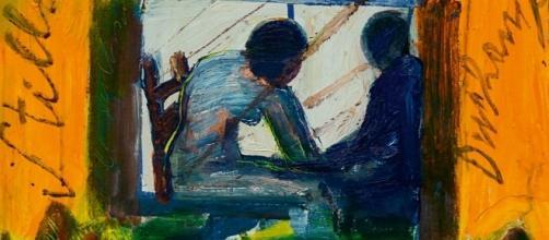 Stilleben Duchamp Game, 2016, olio su tavola, 50 x 40 cm