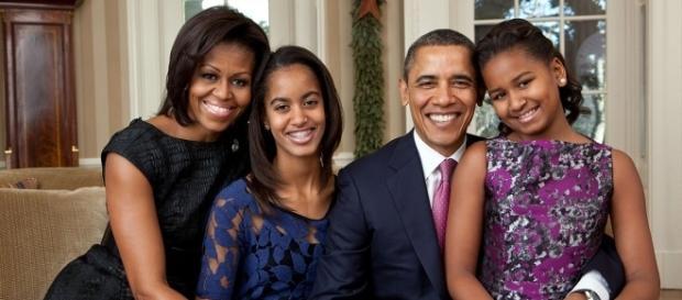 Barack Obama and his family celebrate Sasha's 16th birthday on Saturday. (Wikimedia/Pete Souza)