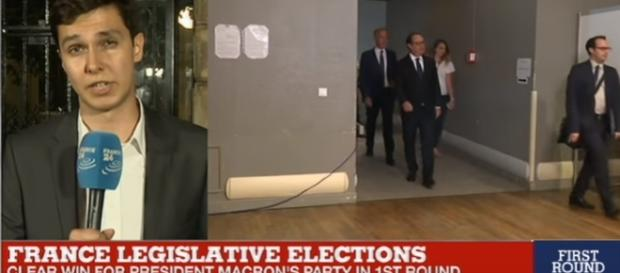 "France Legislative Elections: ""Results come in, hugely disappointing for the Socialist Party/ screencap France 24 English via YouTube"