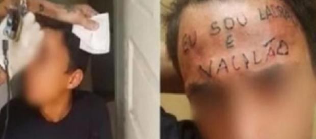Ladrão é tatuado na testa - Google