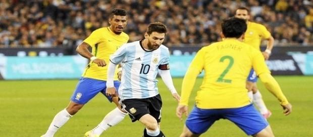 un particular momento del partido, Messi no tuvo nada que ver