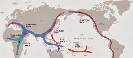 La diffusione dell'homo sapiens