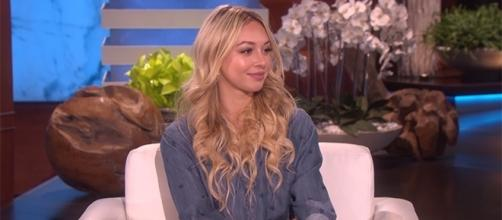 "Corrine Olympios rose to fame as ""The Bachelor"" villain. (YouTube/TheEllenShow)"
