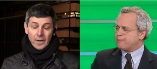 """Enrico Mentana a Paolo Celata """"sei ubriaco, sei uscito da un'enoteca!"""""""
