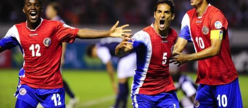 Jugadores de la selección de Costa Rica