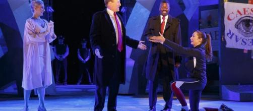 The Public Theater of New York City loses its sponsors over violent Trump portrayal. (Screenshot YouTube)