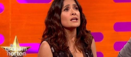 Trump made an advance of Mexican actress Salma Hayek, but she rejected him. Photo via The Graham Norton Show, YouTube.