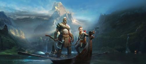 Arte oficial mostrado en el E3 para la portada de God of War.