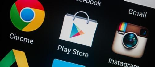 Google Play store, con tante applicazioni da scaricare gratuitamente o a pagamento