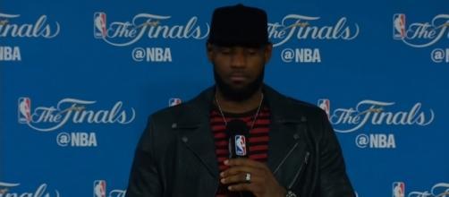 Image via: Youtube screenshot (channel: NBA) #LeBronJames #NBAFinals
