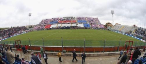 Lo stadio comunale 'Ezio Scida' di Crotone