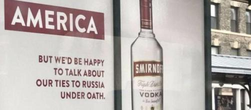 The Smirnoff ad campaign poked fun at Trump's alleged Russian ties