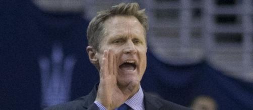 Warriors head coach Steve Kerr is a critic of President Trump -- Keith Allison via WikiCommons