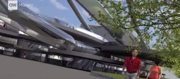 700 mph in a tube: The Hyperloop experience/ via CNN Money Youtube