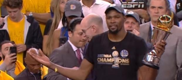 Kevin Durant and his Golden State Warriors became 2017 NBA champions - Photo via Motion Station/Youtube - youtube.com