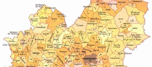 Mappa del Molise - duronia.com