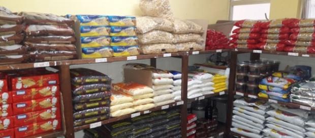 Os produtos estão sendo armazenados no depósito do bairro Quissamã