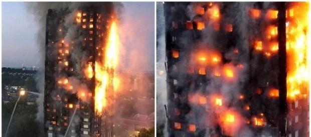 Prédio pega fogo e várias pessoas pulam pelas janelas