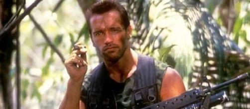 Arnold Schwarzenegger in 80's classic Predator screen grab taken from YouTube / Graciela Pauline Siska