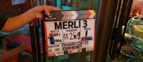 Claqueta del rodaje de la tercera y última temporada de la serie 'Merlí'.