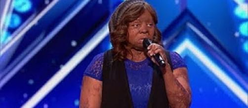 "Kechi Okwuchi lifted anyone watching ""America's Got Talent"" beyond the stars with her story of courage and survival. --screenshot edit"