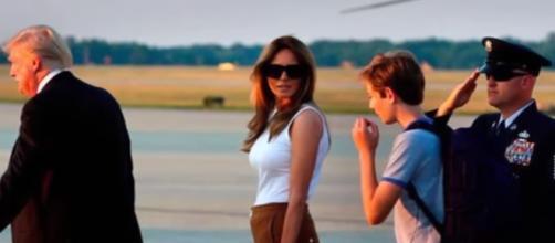Melania Trump Touches Down in the White House/ Celebrities TV via Youtube