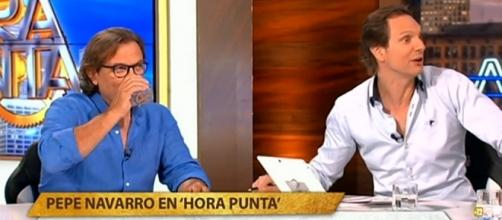 Pepe Navarro y Javier Cárdenas en hora Punta