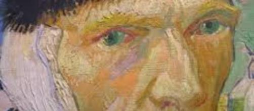 """""""Self-portrait with Bandaged Ear"""" by Vincent Van Gogh FAIR USE mountainsof travel.com Creative Commons"""