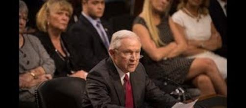 Senators were frustrated at Sessions' stonewalling. Photo via NBC News, YouTube.