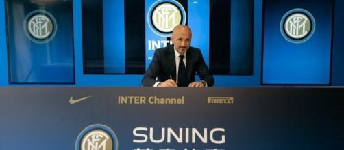 Spalletti annunciato dall'Inter (foto presa dal sito ufficiale Inter.it)