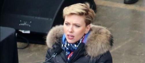 Wikimedia Commons -- Scarlett Johansson speaks to the crowd at the Women's March on Washington