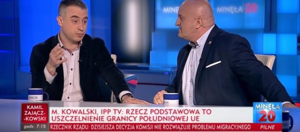 Marian Kowalski, redaktor telewizji Idź Pod Prąd (źródło: TVP Info).