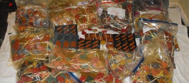 Drug-laced lollipops - Photo courtesy Harris County Sheriff's Office