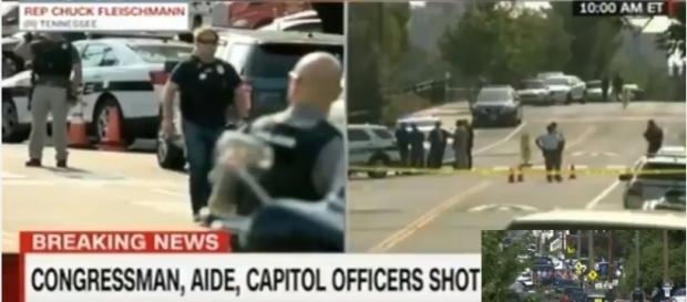 Steve Scalise Shot House Baseball Game Shooting/ screencap from US News Today via Youtube